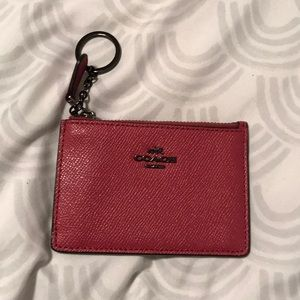coach key and card holder